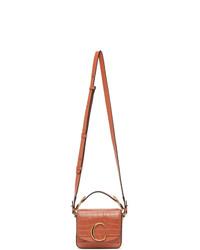 Chloé Orange Croc Mini C Bag