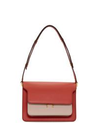 Marni Red And Pink Medium Trunk Bag