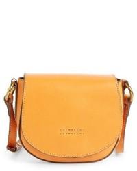 Frye Small Harness Calfskin Leather Saddle Bag Black