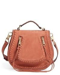 Rebecca Minkoff Small Vanity Leather Saddle Bag Orange