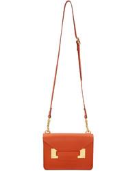 Sophie Hulme Orange Mini Milner Crossbody Bag
