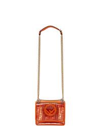 Fendi Transparent And Orange Small Kan I F Bag