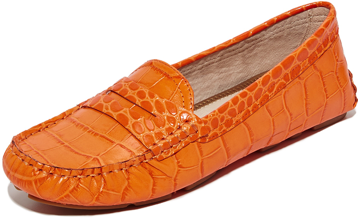 1502f722672 Filly Driver Loafers. Orange Leather Driving Shoes by Sam Edelman