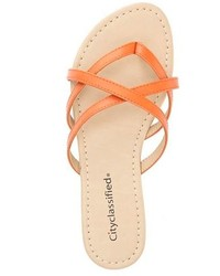 6bd4356b86951d ... City Classified Crisscross Strappy Thong Sandals