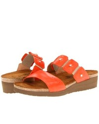 Naot Footwear Ashley Sandals Orange Leather