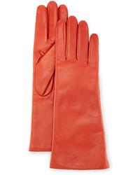 Orange Leather Gloves