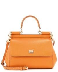 Dolce & Gabbana Sicily Small Leather Shoulder Bag