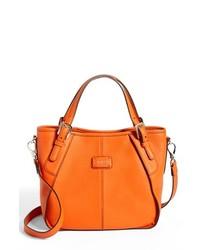 Tod's New G Mini Leather Satchel Orange
