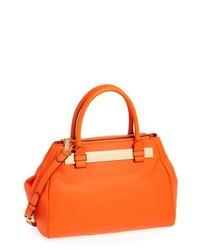 Vince Camuto Jace Leather Satchel Sunset Orange