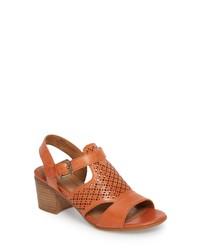Comfortiva Amber Perforated Block Heel Sandal