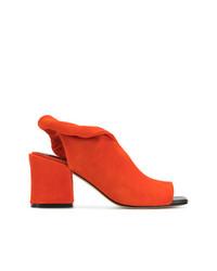 Sigerson Morrison Block Heel Sling Back Sandals