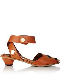 Stella McCartney Button Embellished Ankle Strap Sandals