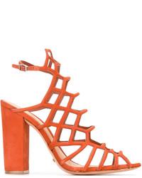 Cage style heeled sandals medium 3665622