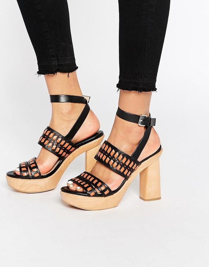 05bcbbae05d ... Mango Wooden Block Heel Sandal ...