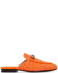 Orange lace princetown slippers medium 5363421