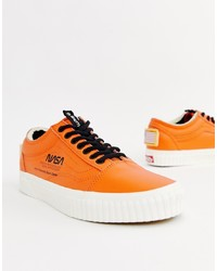 Vans X Space Voyager Old Skool Trainers In Orange Vn0a38g1upa1