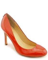 Ivanka Trump Janie Orange Patent Leather Pumps Heels Shoes