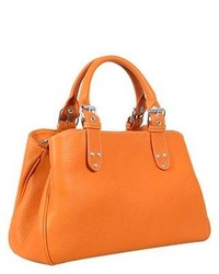 Soft calf leather satchel bag medium 131619