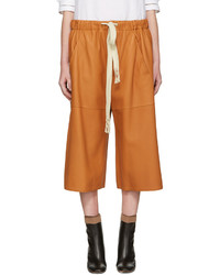 Orange leather shorts medium 1151704