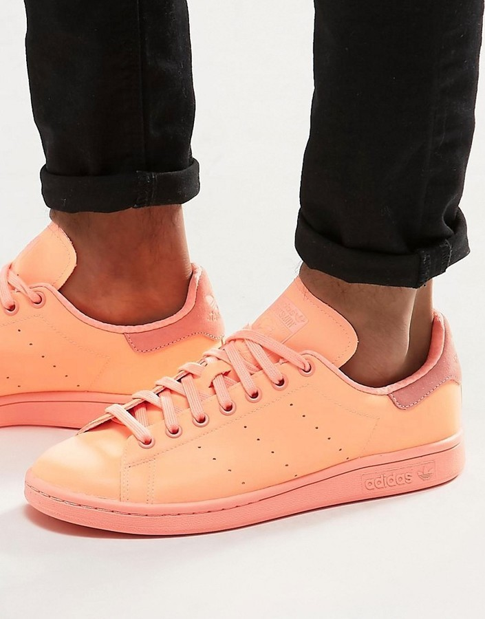 brand new 4b73f 84174 $85, adidas Originals Stan Smith Adicolor Sneakers In Orange S80251