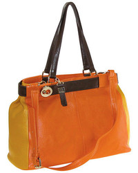 jcpenney Buxton Hailey Leather Colorblock Tote