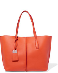 Tod's Joy Medium Textured Leather Tote Orange