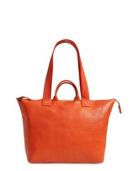 Clare V. Le Zip Leather Tote