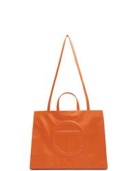 Telfar Orange Large Shopper Tote