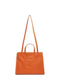 Telfar Orange Medium Shopper Tote