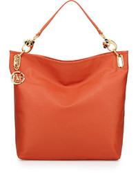 Love Moschino Saffiano Monkey Head Faux Leather Tote Orange