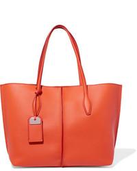 Tod's Joy Medium Textured Leather Tote Orange
