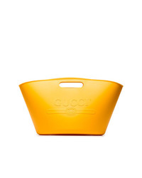 Gucci Yellow Logo Rubber Tote