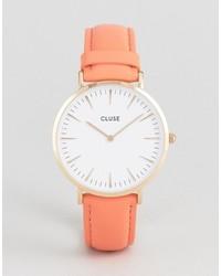Cluse La Boheme Coral Leather Watch