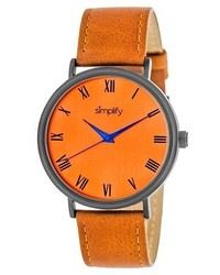 Simplify The 2900 Leather Strap Watch