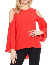 Vince Camuto Bell Sleeve Cold Shoulder Blouse