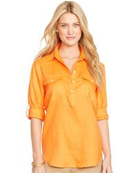 Linen rolled sleeve shirt medium 193713