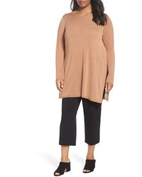 Eileen Fisher Plus Size Ballet Neck Tencel Tunic Top