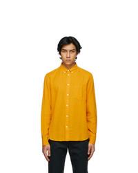 Wood Wood Orange Cotton And Linen Andrew Shirt