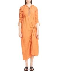 Loewe Henley Linen Drawstring Midi Dress