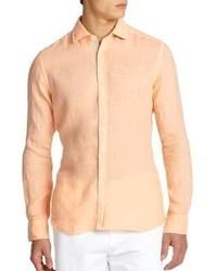Saks Fifth Avenue Collection Linen Sportshirt