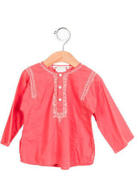 Bonpoint Girls Embroidered Long Sleeve Top