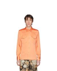 Dries Van Noten Orange Curtain Shirt