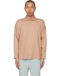 Homme Plissé Issey Miyake Orange Jersey Shirt