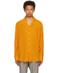 Our Legacy Orange Tech Wool Loco Shirt