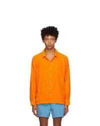 ERL Orange Velvet Shirt