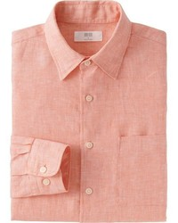 Uniqlo Premium Linen Long Sleeve Shirt