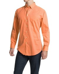 Scott Barber James Bedford Corded Cotton Shirt Long Sleeve