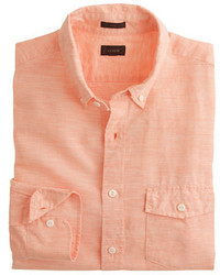 J.Crew Slim Irish Cotton Linen Shirt In Solid