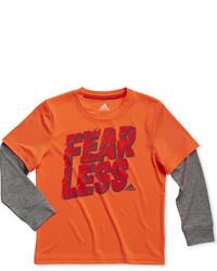 adidas Little Boys Fear Less Layered Look T Shirt