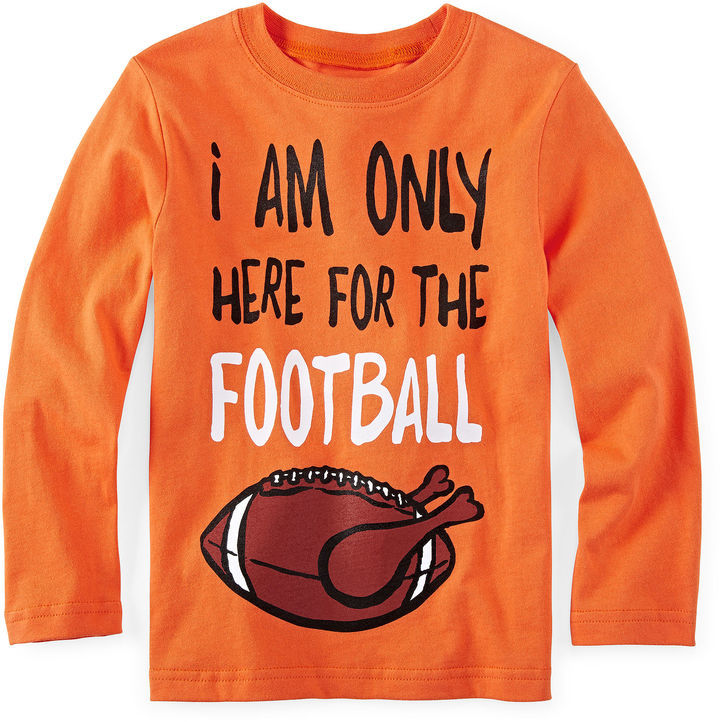 e84850ac ... Orange Long Sleeve T-Shirts JCPenney Okie Dokie Long Sleeve Graphic Tee Toddler  Boys 2t 5t